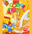 corn flakes rooster mascot honey and milk