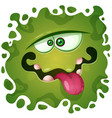 cute funny crazy monster character helloween vector image vector image