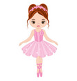 cute little ballerina dancing vector image vector image