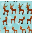 deer Set of funny animals seamless pattern on a vector image vector image