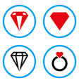 diamond rounded icons vector image vector image