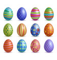 easter eggs colored floral graphic decoration vector image