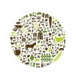 farm icons in circle vector image vector image