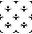 Fleur de lys seamless pattern background vector image vector image
