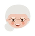front face elderly woman with glasses vector image