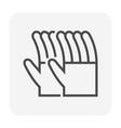 glove icon black vector image