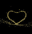 gold foil in shape a heart valentines day vector image vector image