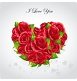 heart roses valentines day card vector image