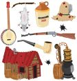 Hillbilly clipart icons vector | Price: 3 Credits (USD $3)