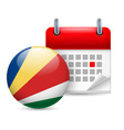 Icon of national day in seychelles vector image vector image