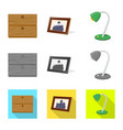 isolated object of dreams and night logo set of vector image