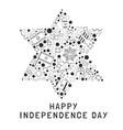 israel independence day holiday flat design black vector image