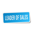 leader of sales square sticker on white vector image vector image