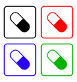 medical pill sign icon drugs symbol nutritional vector image