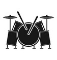 musical drums icon simple style vector image vector image