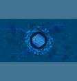 numeraire nmr token symbol defi project on blue vector image vector image