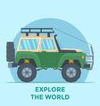 Offroad Vehicle with mud tire and roof rack vector image