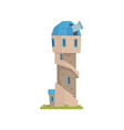 old stone observatory tower ancient architecture vector image vector image
