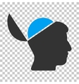 Open Brain Icon vector image vector image