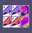 playing cards in modern style gradient shapes vector image vector image