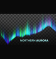 realistic composition of northern aurora vector image