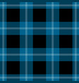 seamless black blue tartan with white stripes vector image vector image