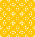 Seamless texture with white and yellow patterns vector image vector image