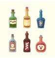 set bottles vector image