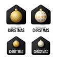 set luxury gold merry home christmas 2020 card vector image vector image