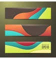 set of abstract colorful banners three background vector image vector image