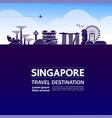 singapore travel destination vector image
