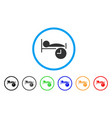 sleep time rounded icon vector image vector image
