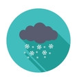 Snowfall single icon vector image vector image