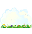Spring grass background vector image vector image