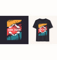surfrider stylish graphic tee design print vector image vector image