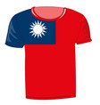 T-shirt flag country taiwan
