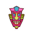 Tribal mask traditional colorful african face vector image