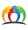 unity charity hands logo vector image vector image