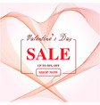 valentines day sale abstract background with vector image vector image
