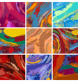 Abstract painting background design set vector | Price: 1 Credit (USD $1)