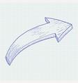 arrow hand drawn sketch vector image