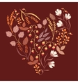 Autumn floral card Fall autumn leaves in the vector image