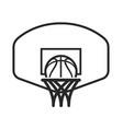 basketball logo with backboard simple line art vector image vector image