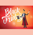 black friday - cartoon people characters vector image vector image
