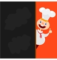Blackboard menu and Chef character vector image