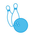 bowling ball and pins vector image vector image