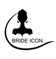 bride icon vector image vector image