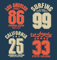 california sport wear t-shirt typography design vector image vector image