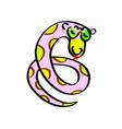cartoon snake kids funny endless vector image vector image
