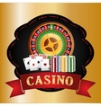 Casino icons design vector image